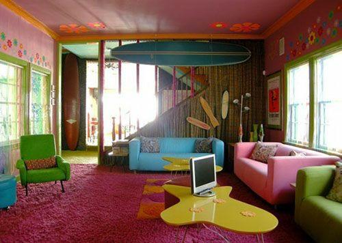 Farbgestaltung Wohnzimmer Einrichten Ideen Farbenfrohe Möbel