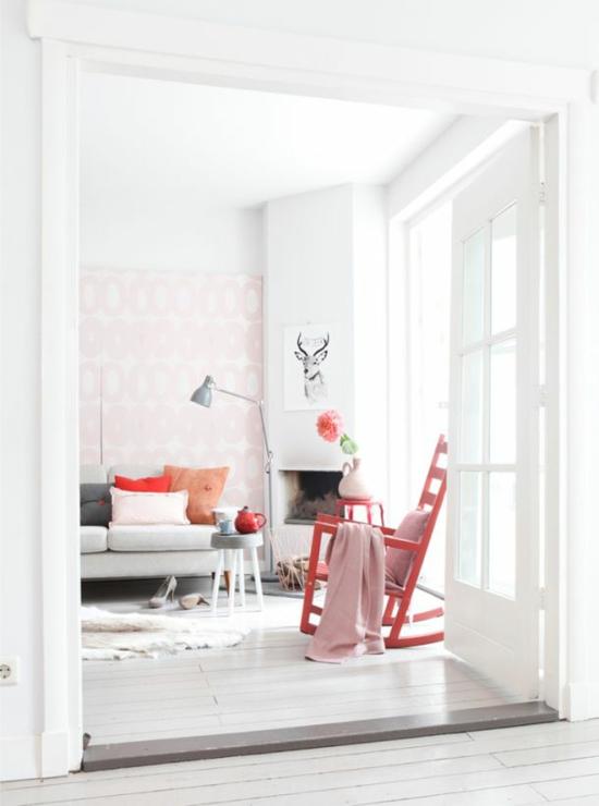 Farbideen f r ihre wohnung stilvolle farbgestaltung mit rosa for Schaukelstuhl pink