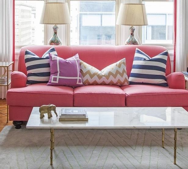 Farbideen Für Wohnzimmer: Stilvolle Farbgestaltung Mit Rosa