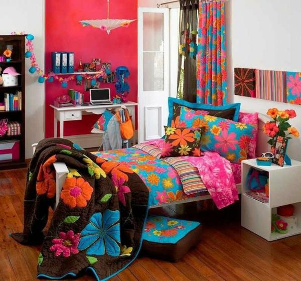farbige kinderzimmer design ideen bett dekokissen