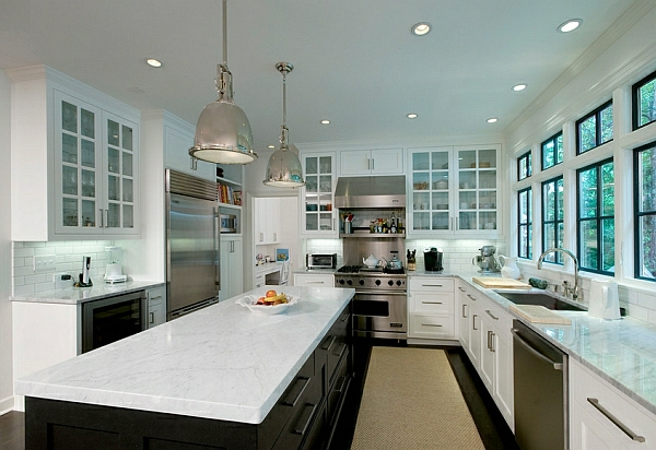 fenster glas arbeitsplatte küchenschränke farben marmor oberfläche