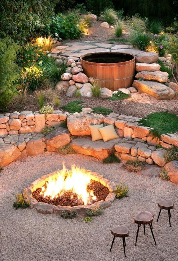 feuerstelle selber bauen ~ gute ideen für möbel und innenarchitektur, Garten seite