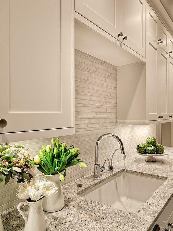 fliesen verlegen küche wandfliesen steinoptik weiß küchenrückwand
