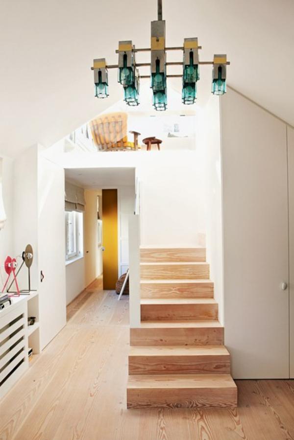 Wunderbar Flur Treppe Holz Farbgestaltung Hell Gemütlich