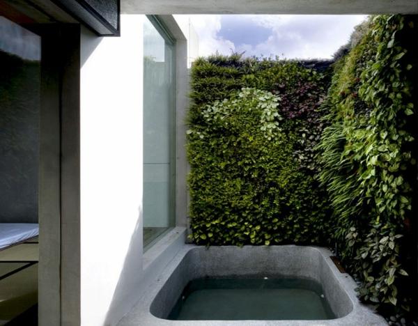 frisch architektur garten vertikal hinterhof badewanne