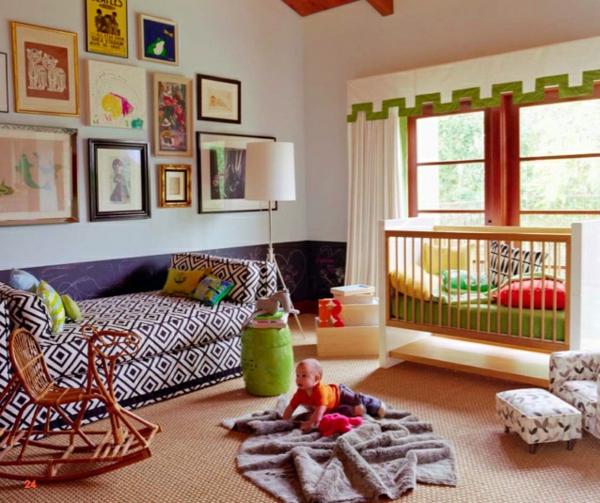 frische einrichtungsideen im kinderzimmer bett babywiege