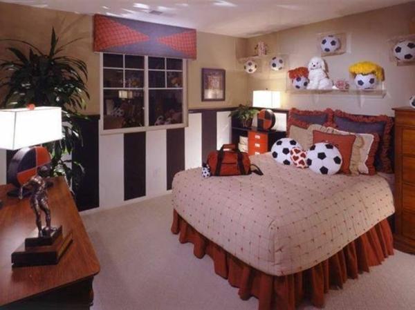 fußball inspiriertes jungenzimmer bälle bett