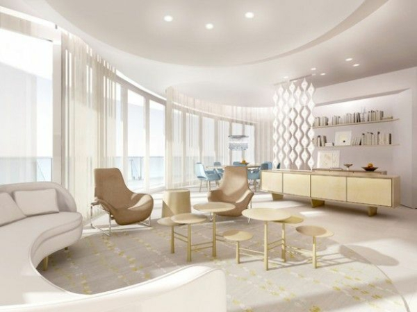 futuristischer interior schöne decke