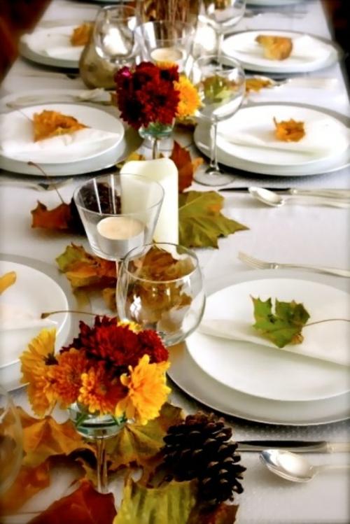 abendessen tafel herbst gäste empfangen tischdeko party