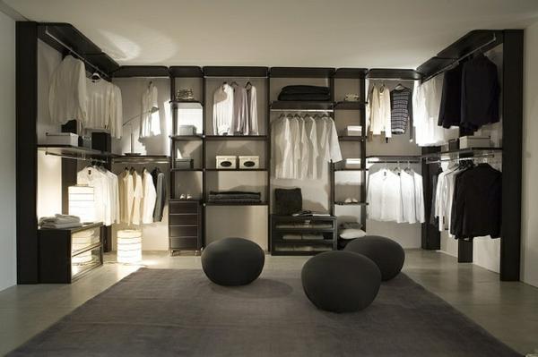 garderobe design hocker ankleideraum