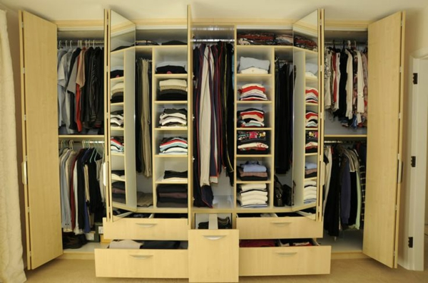 garderobe design holz viele ablagen