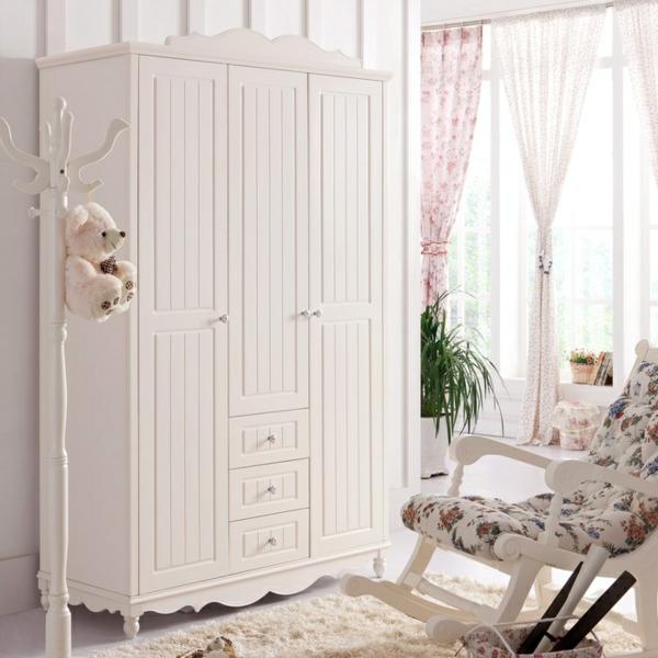 garderobe design holz weiß stilvoll