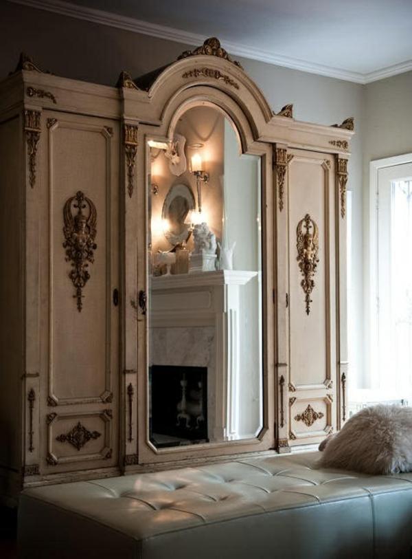 garderobe design klassisch aussehend spiegeln