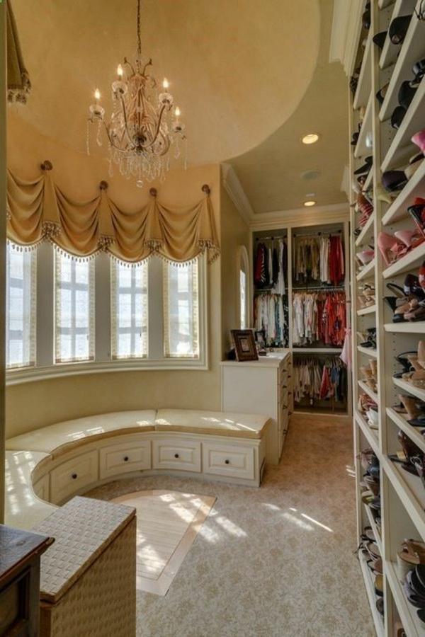 garderobe design runde bank ankleideraum