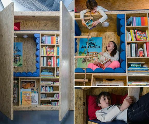 kleiderschrank geöffnet im kinderzimmer bunte farben