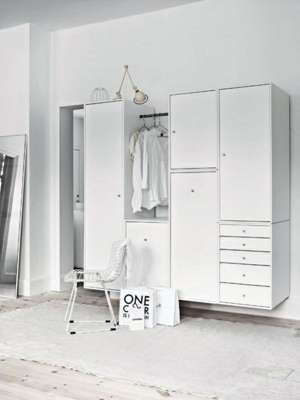 garderobe mit glattlinien vielfältige varianten für organisation