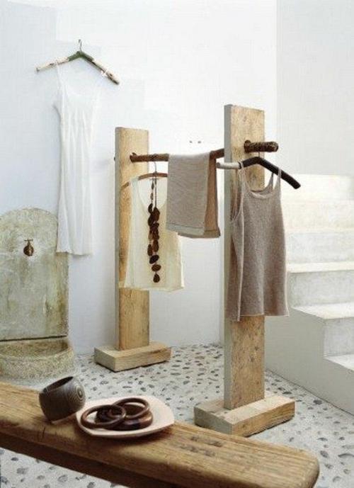 garderobenständer DIY selber bauen recyceln aufhänger holz