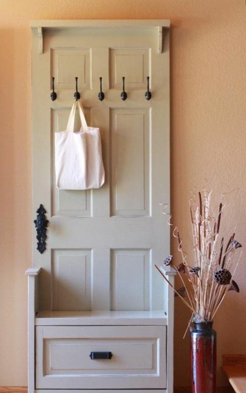 garderobenständer DIY  Kleiderständer selber bauen  recyceln aufhänger tür