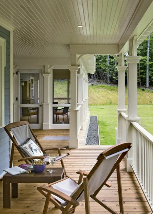 garten gestalten terrasse holzboden tisch