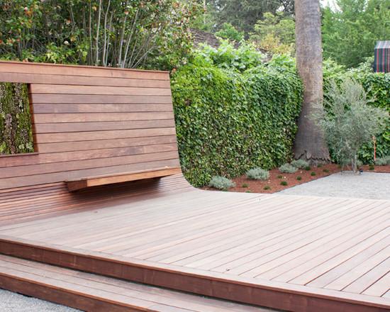 Gartengestaltung Beispiele Menlo Park Californien Hof Terrasse Veranda Holz