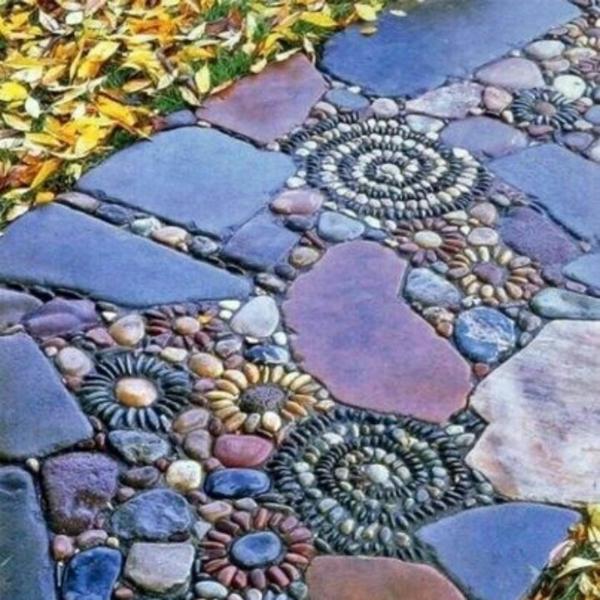 gartengestaltung dekoideen pfad mosaik