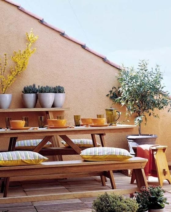 gartengestaltung ideen für terrassengestaltung außenmöbel aus holz holzfliesen verlegen