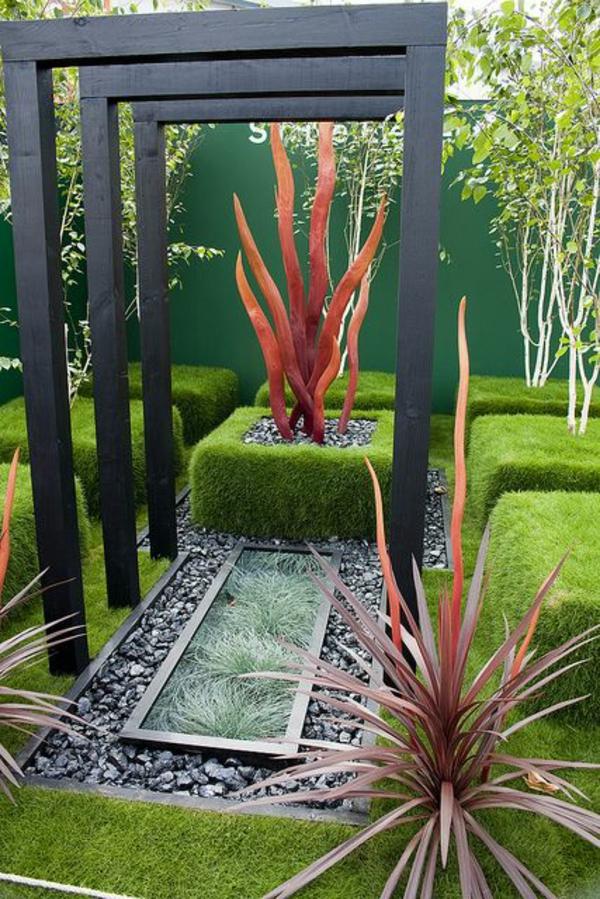 gartengestaltung ideen immergrüne pflanzen dekoideen