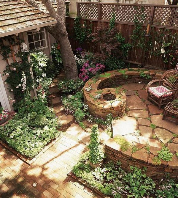 Steinmauer im Garten gestalten kreative Auenarchitektur