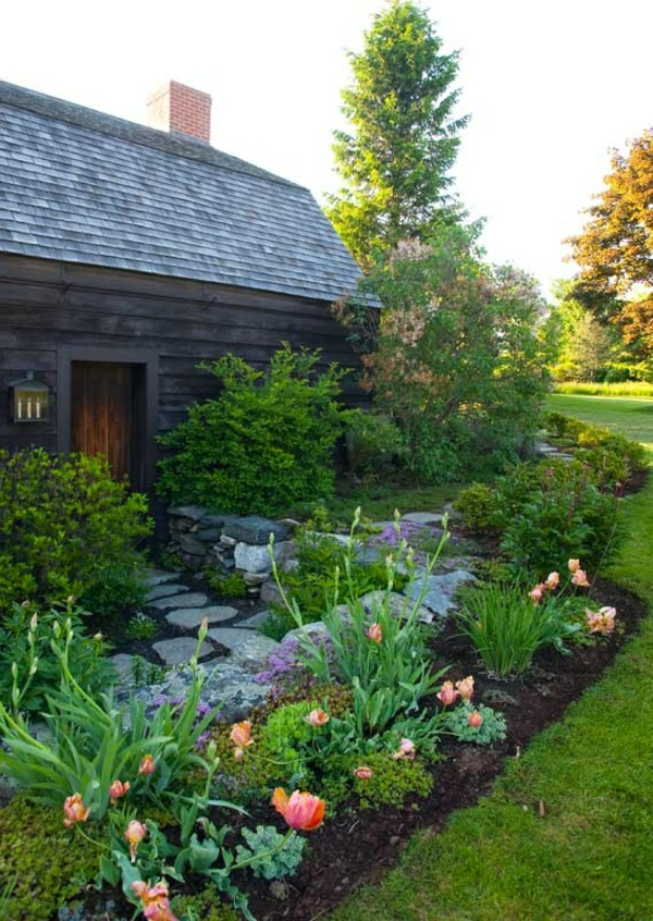 gestalten blumen gartengestaltung vorgarten dekorieren