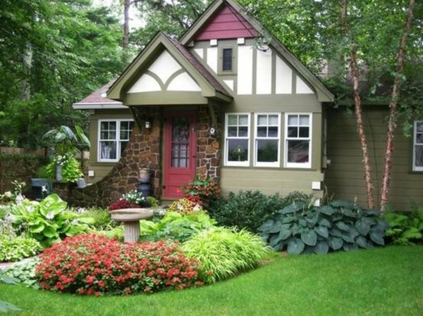 vorgarten gestalten - 23 schicke, rustikale gartenideen, Hause und Garten