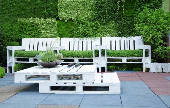 gartenmöbel aus paletten selber machen holzmöbel außenbereich bank tisch