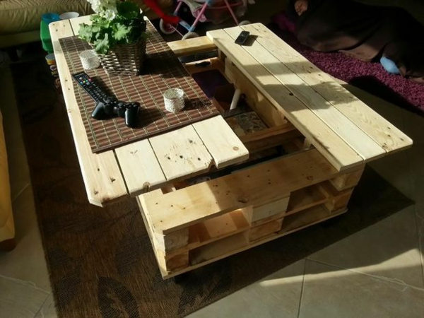 gartentisch selber bauen - gartenmöbel bastelideen, Garten und Bauen