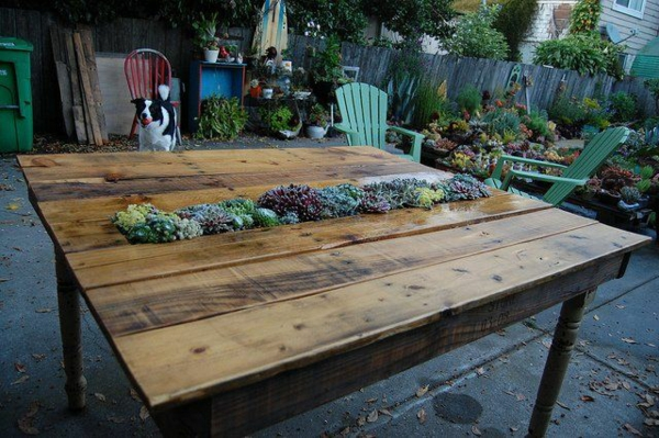 Gartentisch holz selber bauen  Gartentisch selber bauen - Gartenmöbel Bastelideen