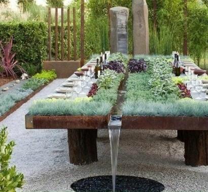 Gartentisch selber bauen aus stein  Gartentisch selber bauen - Gartenmöbel Bastelideen
