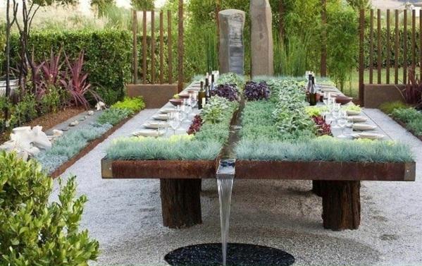 Gartentisch selber bauen  Gartenmöbel Bastelideen