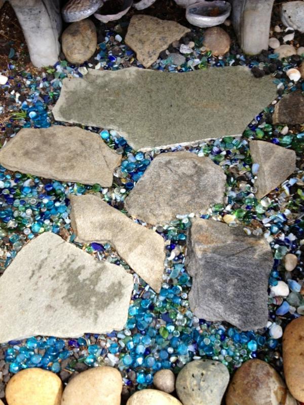 gehweg glassteine steinplatten diy projekt