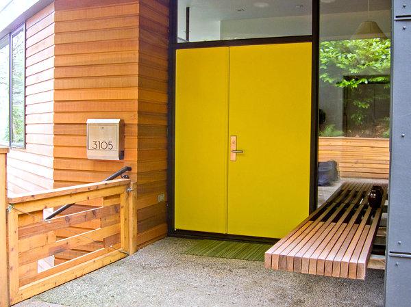 gestalten bauen holz konstruktion gelb Veranda gestalten