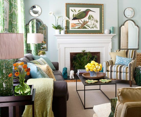 gemütlich wohnzimmer wandgestaltung kissen tisch schöne wandfarben wohnzimmer