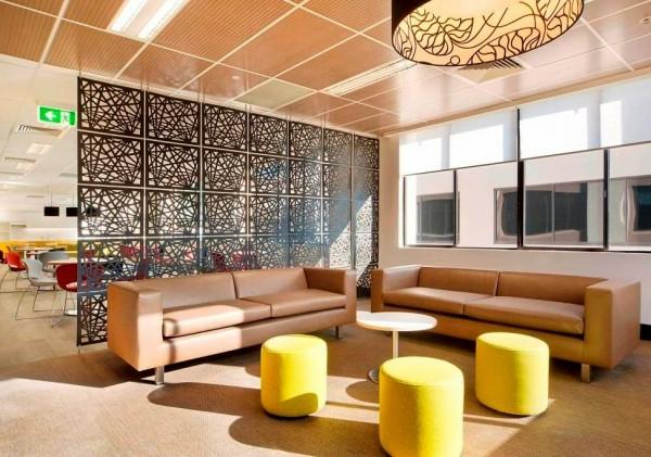 Raumteiler Schiebetüren Ikea ~ sonnig ideen wohnzimmer leder möbel geometrische formen raumteiler