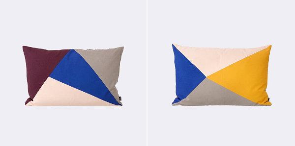 geometrische muster farbige dreiecke kissenbezüge