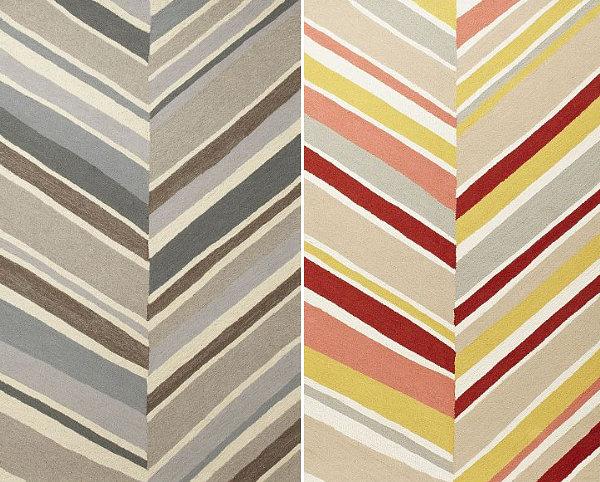 geometrische muster teppichmuster diagonale streifen farbig