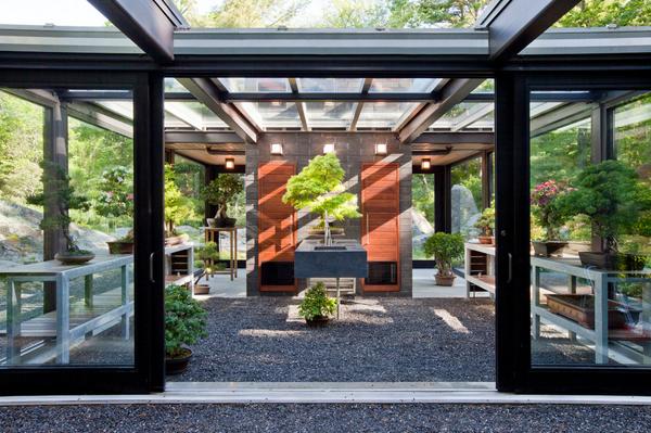 gewächshäuser einrichtungsideen glashaus