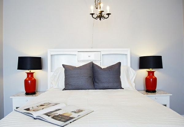 glanzvoll schwarz lampenschirm schlafzimmer bettwäsche