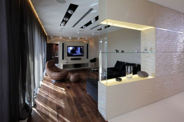 wohnzimmer regal ideen:glas regale modern raumteiler ideen wohnzimmer