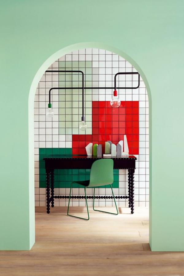 grün frisch flur wandfarben Wandgestaltung im Flur