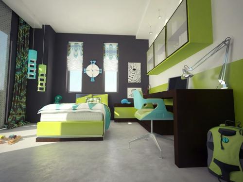 Kinderzimmer deko junge grau  Farbgestaltung fürs Jugendzimmer - 100 Deko- und Einrichtungsideen