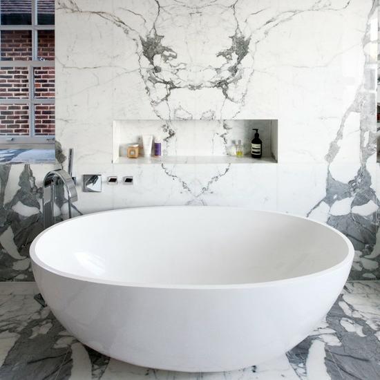 groß marmor modernes bad badewanne weiß