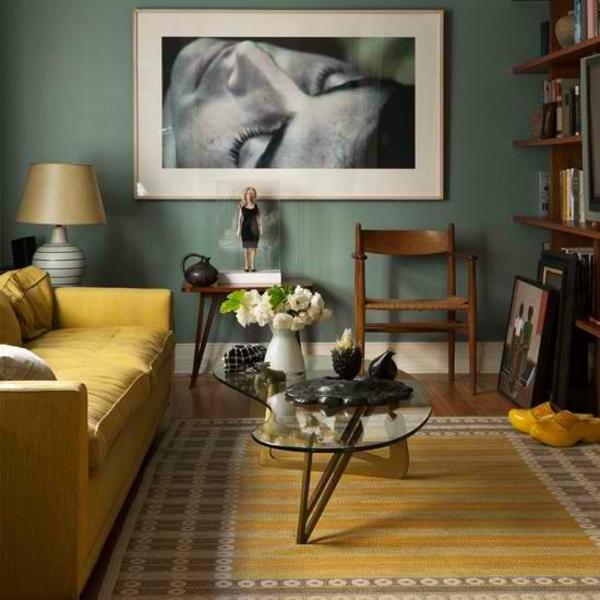 groß bilder rahmen attraktiv schöne wandfarben wohnzimmer gelb motive