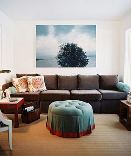 wohnzimmer gestalten sofa braun verschiedene beispiele f r design inspiration