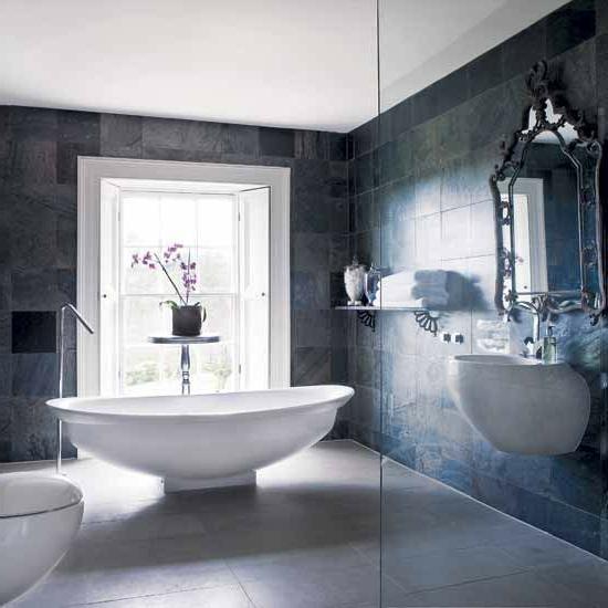 großartig luxus badezimmer freistehend badewanne